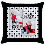 throw pillow 2 - Throw Pillow Case (Black)