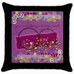 throw pillow 4 - Throw Pillow Case (Black)