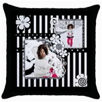throw pillow 5 - Throw Pillow Case (Black)