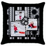 throw pillow 6 - Throw Pillow Case (Black)