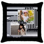 throw pillow 7 - Throw Pillow Case (Black)
