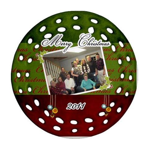 Grandma And Grandpa 9 By Lisa Niederkorn   Ornament (round Filigree)   Hosfpo4dsvob   Www Artscow Com Front
