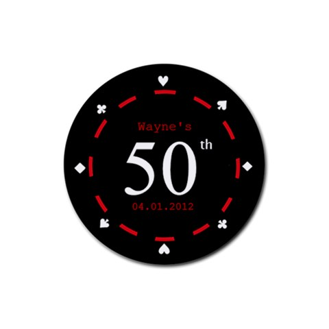 Poker Night Coaster   50th Birthday By Mum2 3boys   Rubber Coaster (round)   Smgfu14yr2b4   Www Artscow Com Front
