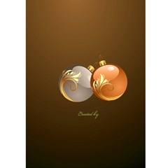Merry Christmas In Gold 5x7 Card By Deborah   Greeting Card 5  X 7    93i6mrh8myi9   Www Artscow Com Back Cover
