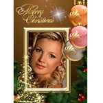 Merry Christmas in Gold 5x7 Card - Greeting Card 5  x 7