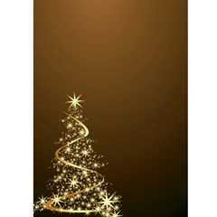 Merry Christmas In Gold 5x7 Card By Deborah   Greeting Card 5  X 7    93i6mrh8myi9   Www Artscow Com Front Inside