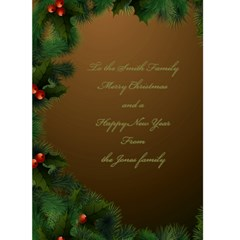 Merry Christmas In Gold 5x7 Card By Deborah   Greeting Card 5  X 7    93i6mrh8myi9   Www Artscow Com Back Inside