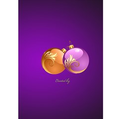 Merry Christmas In Purple 5x7 Card By Deborah   Greeting Card 5  X 7    872rwn51bwec   Www Artscow Com Back Cover