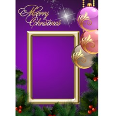 Merry Christmas In Purple 5x7 Card By Deborah   Greeting Card 5  X 7    872rwn51bwec   Www Artscow Com Front Cover