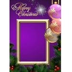 Merry Christmas in purple 5x7 Card - Greeting Card 5  x 7