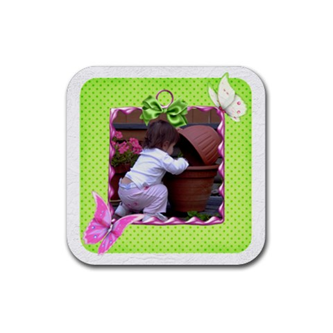 Little Butterfly Coaster By Deborah   Rubber Coaster (square)   Tfhgn4wiuet6   Www Artscow Com Front