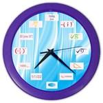 Math Symbols Color Wall Clock
