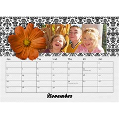 2015 Black & White With Flowers, Desktop Calendar 8 5x6 By Mikki   Desktop Calendar 8 5  X 6    4yafs4j4lzeg   Www Artscow Com Nov 2015