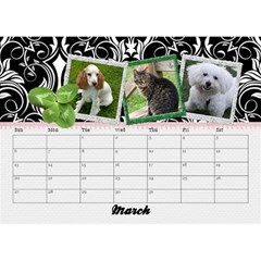 2015 Black & White With Flowers, Desktop Calendar 8 5x6 By Mikki   Desktop Calendar 8 5  X 6    4yafs4j4lzeg   Www Artscow Com Mar 2015
