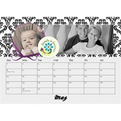 2015 Black & White With Flowers, Desktop Calendar 8 5x6 By Mikki   Desktop Calendar 8 5  X 6    4yafs4j4lzeg   Www Artscow Com May 2015