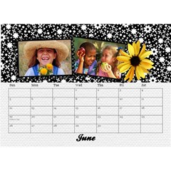 2015 Black & White With Flowers, Desktop Calendar 8 5x6 By Mikki   Desktop Calendar 8 5  X 6    4yafs4j4lzeg   Www Artscow Com Jun 2015