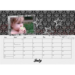 2015 Black & White With Flowers, Desktop Calendar 8 5x6 By Mikki   Desktop Calendar 8 5  X 6    4yafs4j4lzeg   Www Artscow Com Jul 2015