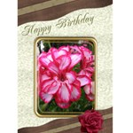 Happy Birthday (any Occasion) 5x7 Card - Greeting Card 5  x 7