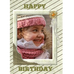 Light Gold Birthday (any Occasion) Card 5x7 By Deborah   Greeting Card 5  X 7    T4zwm8e1he24   Www Artscow Com Front Cover