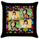 throw pillow case - n - Throw Pillow Case (Black)
