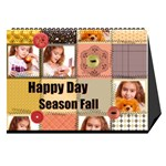 fall theme season calendar - Desktop Calendar 8.5  x 6