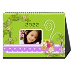 flower faith - 8.5x6 calendar - Desktop Calendar 8.5  x 6