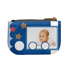 Baby Blue By Wood Johnson   Mini Coin Purse   Onhu4yt30777   Www Artscow Com Back