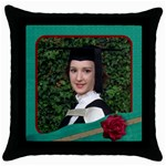 My Green Thow Cushion - Throw Pillow Case (Black)