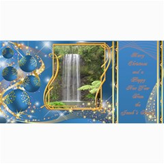 Frosted Bauble Christmas Photo Card (4x8) Midnight Blue By Deborah   4  X 8  Photo Cards   Yihe536wwuki   Www Artscow Com 8 x4 Photo Card - 9