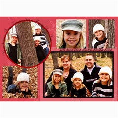 2011 christmas card by laura 7 x5 Photo Card - 2
