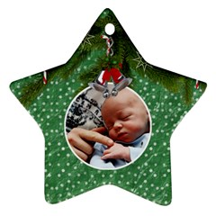 Christmas Star Ornament By Lil    Star Ornament (two Sides)   Bk3gn9vi6o2o   Www Artscow Com Front