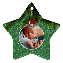 Christmas Star Ornament By Lil    Star Ornament (two Sides)   Bk3gn9vi6o2o   Www Artscow Com Back
