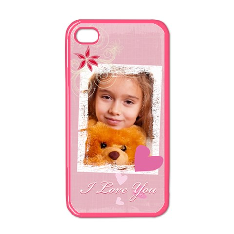 I Love You By Joely   Apple Iphone 4 Case (color)   Anshhkcrehrb   Www Artscow Com Front