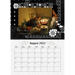 2019 Balck By Angel   Desktop Calendar 6  X 8 5    Nwpdt5mm8tat   Www Artscow Com Aug 2019