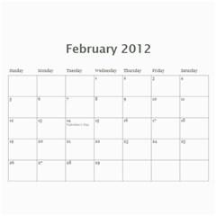2012 D R  Calendar By Kathie Thomas   Wall Calendar 11  X 8 5  (12 Months)   Xlcznb93bor2   Www Artscow Com Feb 2012