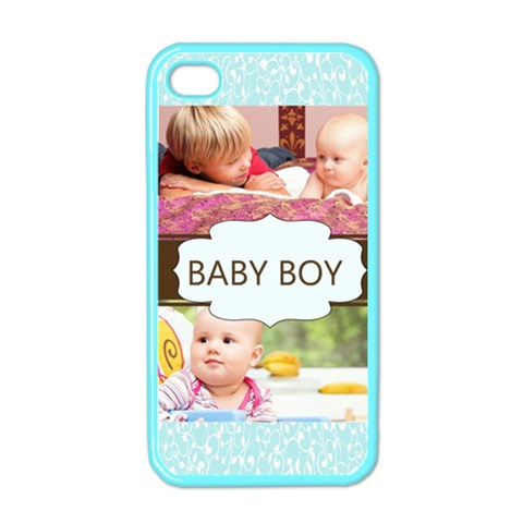 Baby Boy By Joely   Apple Iphone 4 Case (color)   05wtiwkazmwl   Www Artscow Com Front