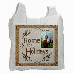 Home For The Holidays Double Sided Recycle Bag By Catvinnat   Recycle Bag (two Side)   T1j1uj9h1frb   Www Artscow Com Front