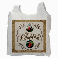 Home For The Holidays Double Sided Recycle Bag By Catvinnat   Recycle Bag (two Side)   T1j1uj9h1frb   Www Artscow Com Back