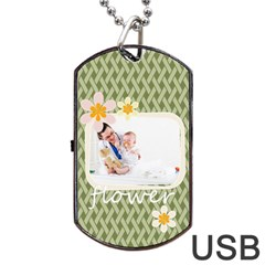 Flower By Joely   Dog Tag Usb Flash (two Sides)   2j93gm4icisa   Www Artscow Com Back