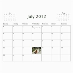 Nannys Calender By Sandra Oldham   Wall Calendar 11  X 8 5  (12 Months)   1kujgd2bgdm2   Www Artscow Com Jul 2012