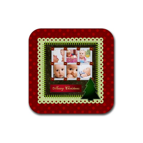 Christmas By Joely   Rubber Coaster (square)   Oiqmivjnz8qc   Www Artscow Com Front