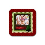 christmas - Rubber Coaster (Square)