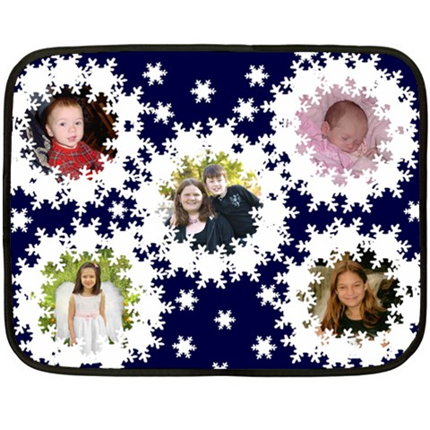 Snowflake Mini Blanket 1 By Kim Blair   Fleece Blanket (mini)   Mnd6oy8u50z2   Www Artscow Com 35 x27 Blanket