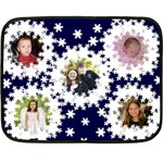 snowflake mini blanket 1 - Fleece Blanket (Mini)