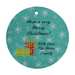 2 Sided Round 5 By Martha Meier   Round Ornament (two Sides)   07kw4opougd8   Www Artscow Com Back