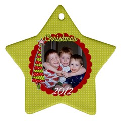2 Sided Star 1 By Martha Meier   Star Ornament (two Sides)   Ibkze4rww4vm   Www Artscow Com Front