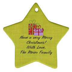 2 Sided Star 1 By Martha Meier   Star Ornament (two Sides)   Ibkze4rww4vm   Www Artscow Com Back