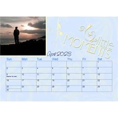 2016 Serenity Blue Desktop Calendar 8 5x6 By Picklestar Scraps   Desktop Calendar 8 5  X 6    Vrbzc66srpr6   Www Artscow Com Apr 2016