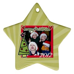 2 Sided Star 3 By Martha Meier   Star Ornament (two Sides)   7paw6uyzqfgo   Www Artscow Com Front