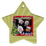 2-sided Star 3 - Star Ornament (Two Sides)